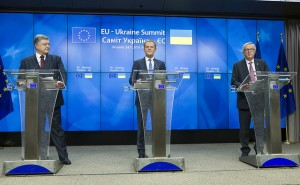 EU-Ukraine Summit 2016 Press Conference with Petro Poroshenko, President of Ukraine; Donald Tusk, President of the European Council and Jean-Claude Juncker, President of the European Commission.