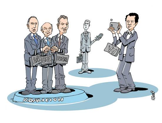 Kosovo coalition cartoon