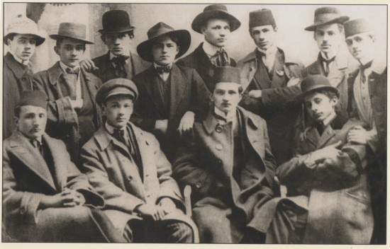 Members of the Young Bosnia movement in 1912. Top right, Nobel prize winner Ivo Andrić.