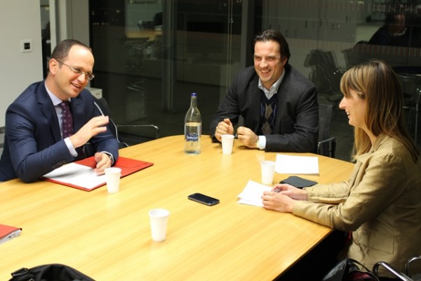 Ditmir Bushati, Foreign Minister of Albania, speaking to LSEE's Dimitar Bechev and Tena Prelec