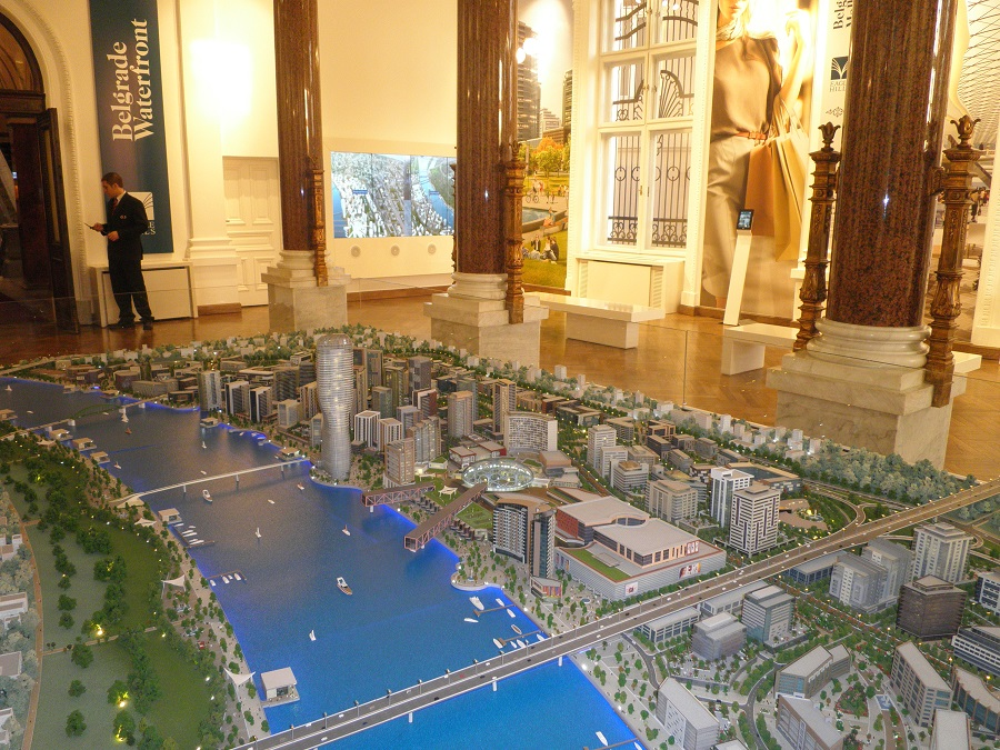 The Belgrade Waterfront Gallery/ 3D Model presented at the '1905 Belgrade'. Picture by Jorn Koelemaij