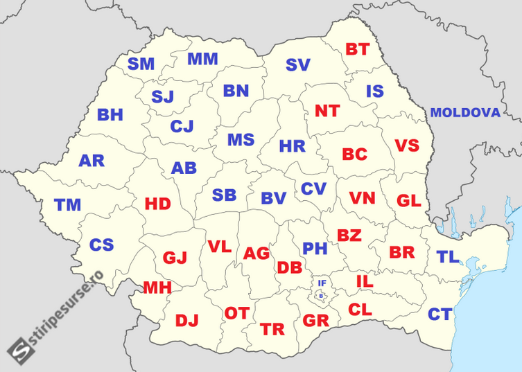 Official results of the second round, regional breakdown by stiripesurse.ro