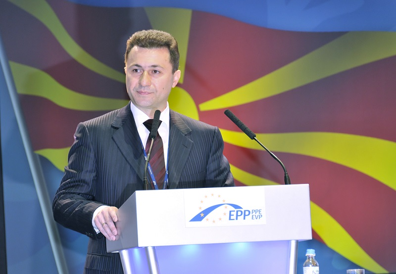 Macedonian PM Nikola Gruevski at the European People's Party Congress in Warsaw. He is now being accused of large-scale eavesdropping. Photo: EPP - Flickr