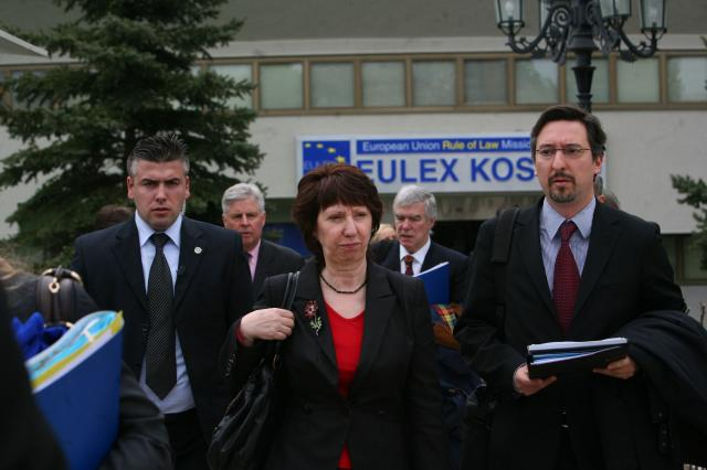 Catherine Ashton, High Representative of the Union for Foreign Affairs and Security Policy and Vice-President of the EC, went to Pristina, two years after the declaration of independence of Kosovo. (Photo: consilium.europa.eu)