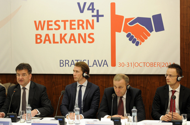 V4+ Western Balkans summit in Bratislava, November 2014. Photo: AFP