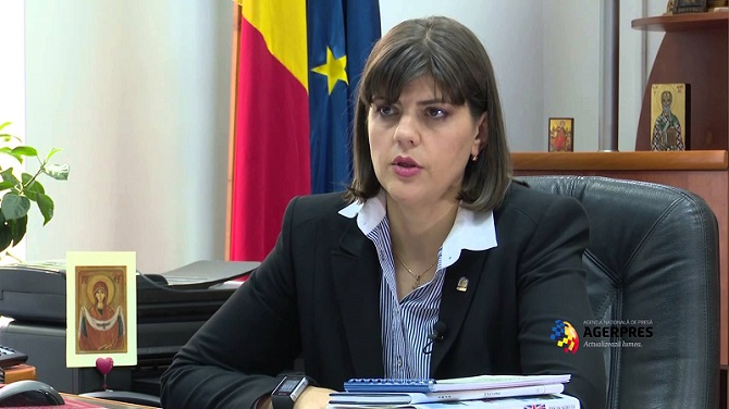 Laura Codruța Kövesi, Chief of the Romanian National Anti-Corruption Agency (DNA).