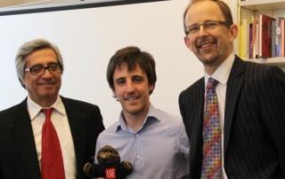 Patrik is awarded the LSE mascot