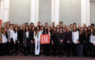 IEB participants on their last day at LSE