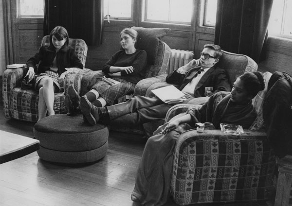 Students in the Shaw Library 1964