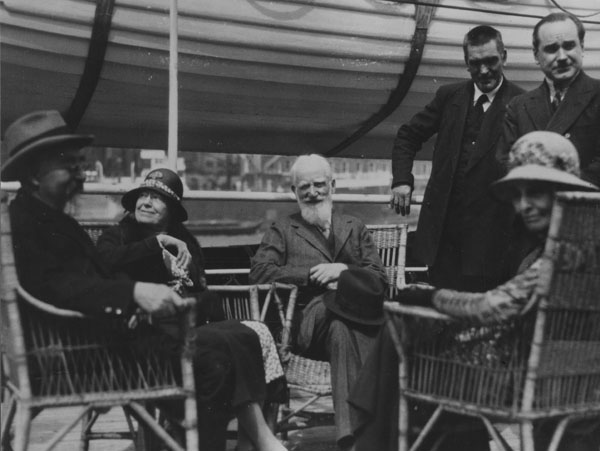 Seated: Sidney Webb, Charlotte Shaw, George Bernard Shaw and Beatrice Webb, 1932