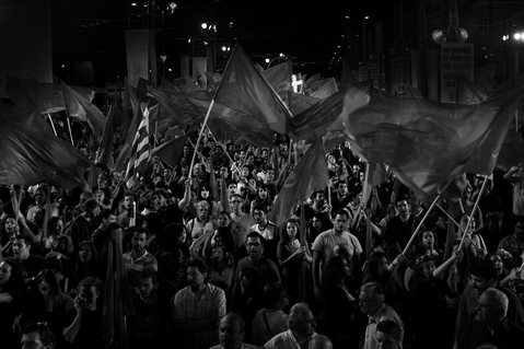 LSE Research Festival 2013 photography winner: Evangelos Georgas, 'Communist pre-election campaign in Greece'