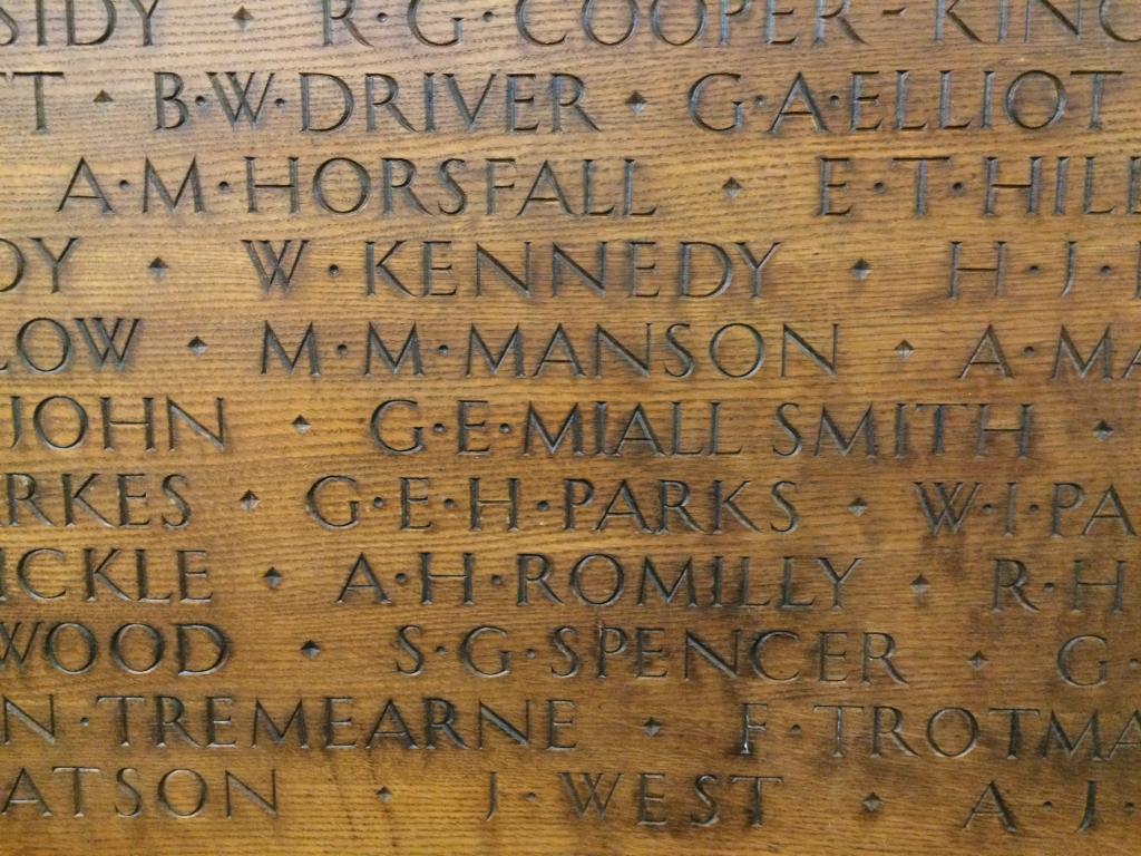 A war memorial in LSE's Old Building