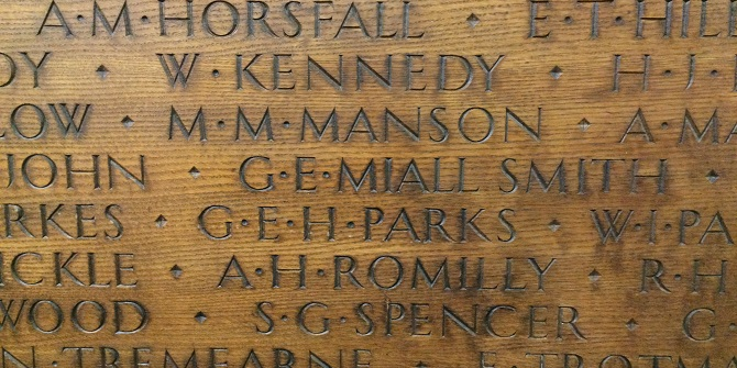 Lest we forget 1914-1918 – LSE's First World War roll of honour