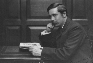 H G Wells, c1890