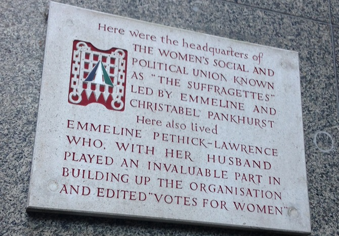 WSPU plaque at LSE. Credit: Hayley Reed