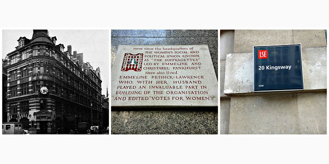 Suffragettes and LSE: early neighbours