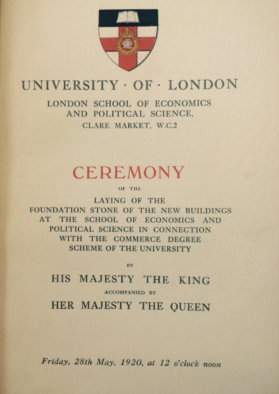 A Royal Visit - laying the foundation stone of the Old