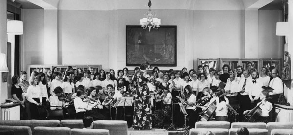 LSE Orchestra, Shaw Library, c1970s