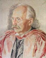 Sir Arthur Lyon Bowley by Stella Bowen