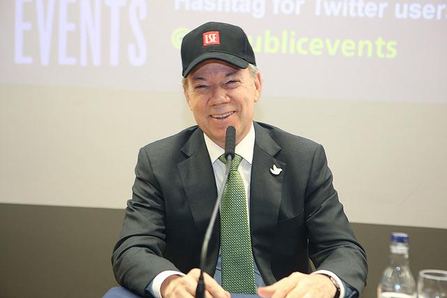 Juan Manuel Santos credit LSE Nigel Stead 2016jpg