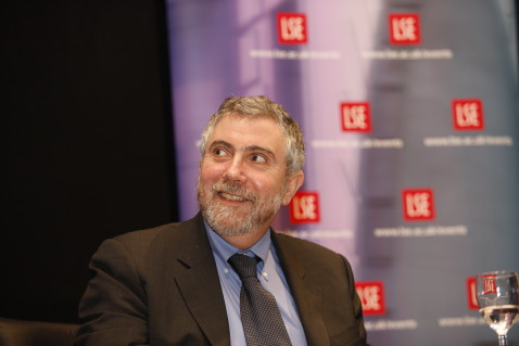 Professor Paul Krugman, winner of the Nobel Memorial Prize in Economics in 2008, at the Lionel Robbins Memorial Lecture - Return of Depression - Economics Part 2: The eschatology of lost decades. Old Theatre, LSE Old Building on the 9th June 2009