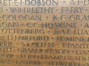 LSE's Second World War memorial. Credit: Hayley Reed