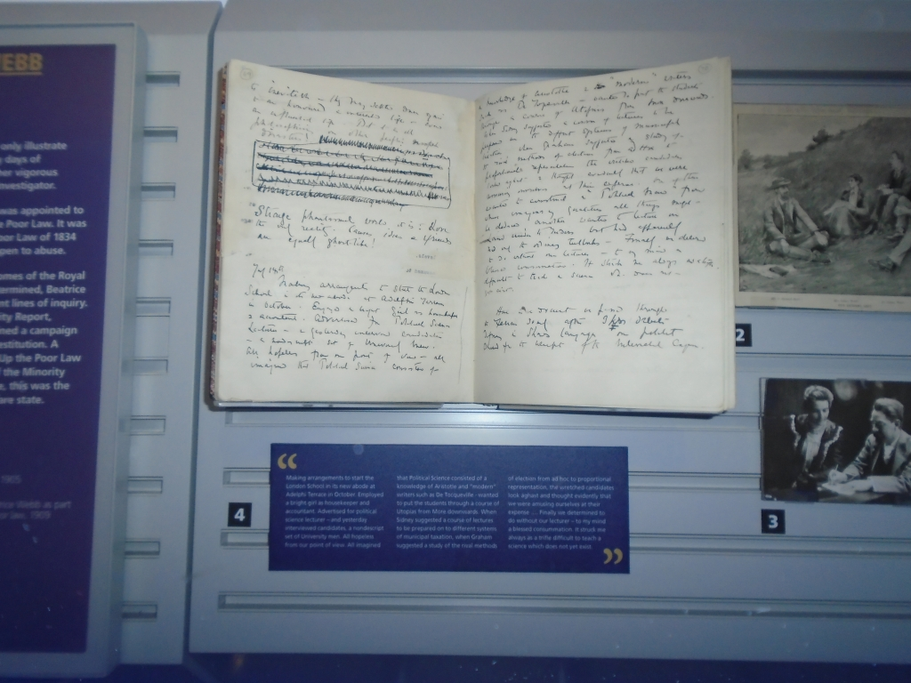 Beatrice Webb's diary at the Foundations exhibition