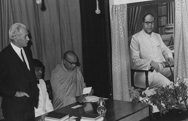 Presentation of portrait 1973