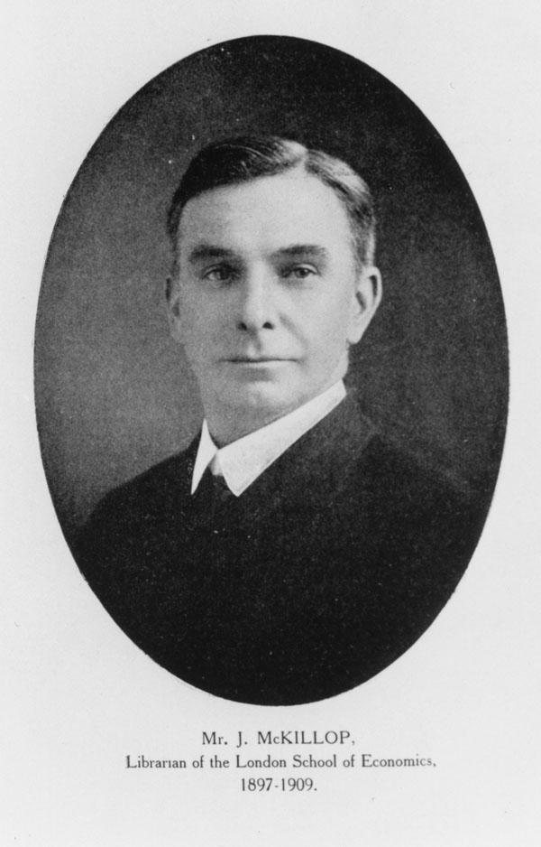 Mr J McKillop, c1909. Credit: LSE Library