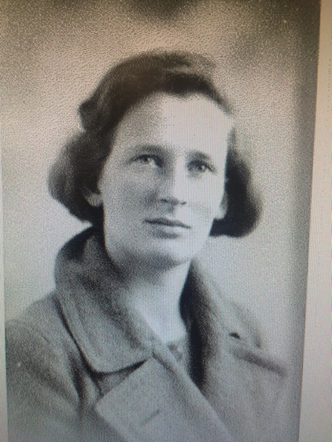 Margaret Gowing as a student