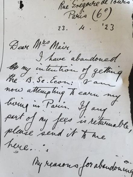 Letter to Mrs Mair