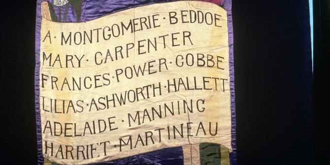 The women behind the suffrage banner