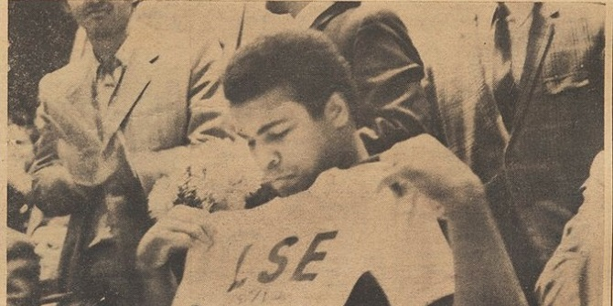 Muhammad Ali at LSE, 10 October 1971