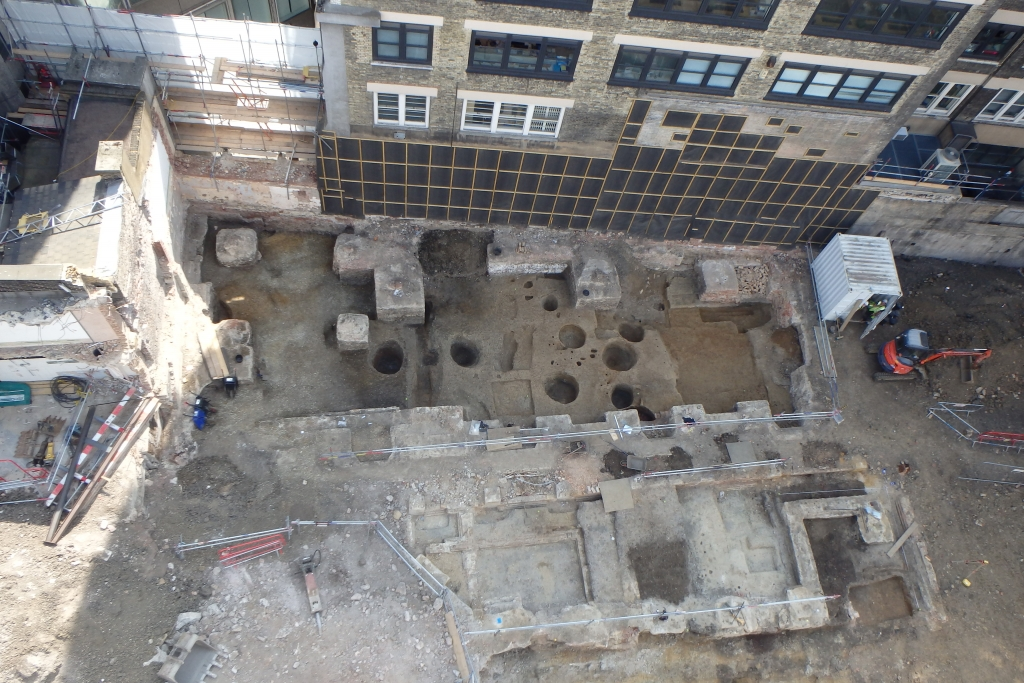 Overhead view of the site on Houghton Street