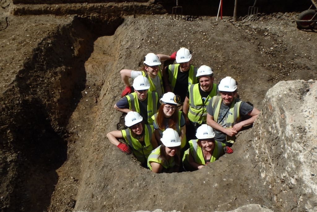 The Archaeology South-East team on site