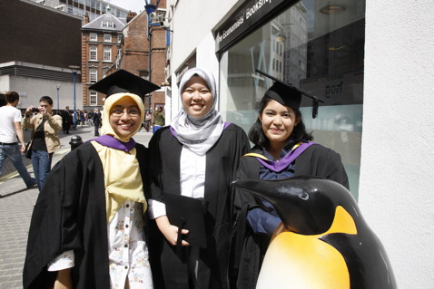 The Penguin at graduations, 2010