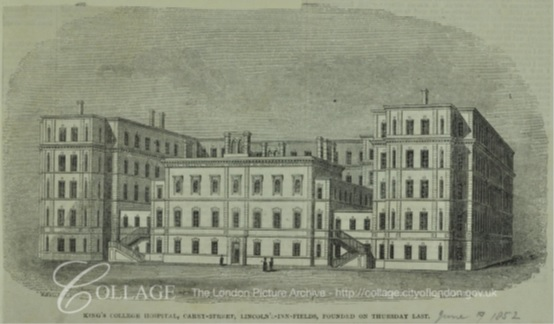 King's College Hospital, Portugal Street (courtesy of London Metropolitan Archives)