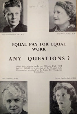 Equal Pay for Equal Work: any questions?