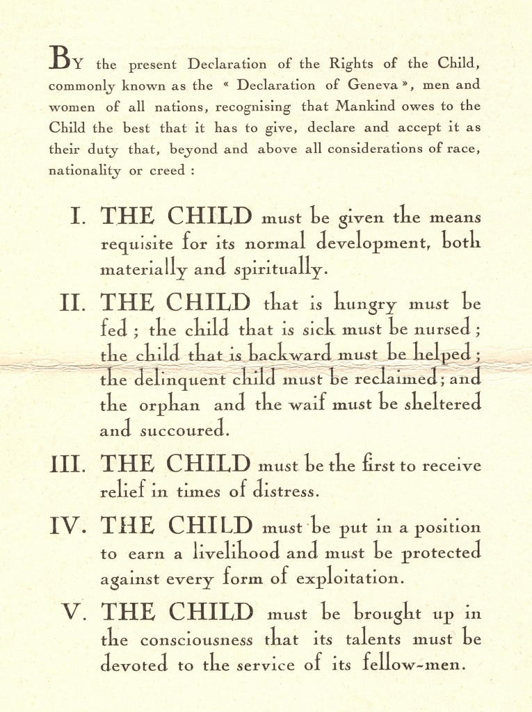 Geneva Declaration of the Rights of the Child