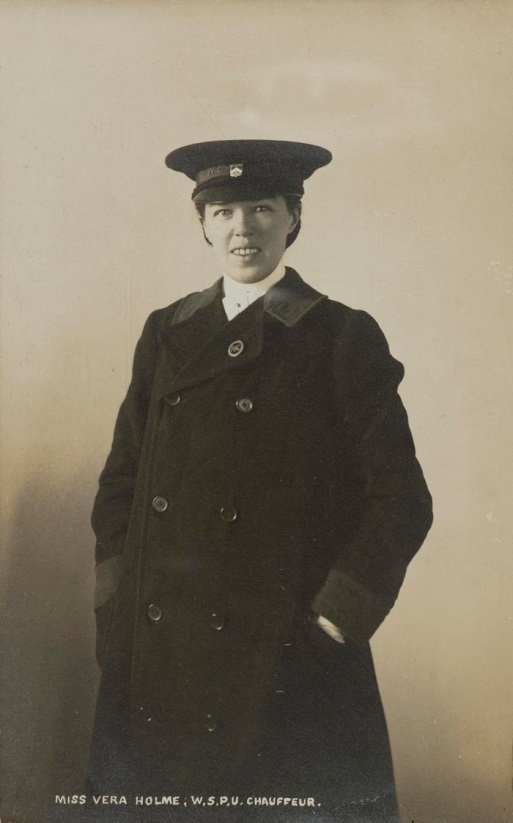 Vera Jack Holme dressed as a chauffeur