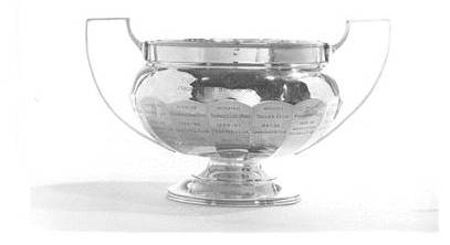 The Ernest Cornwall Cup presented by him 1937 - to many different sports clubs