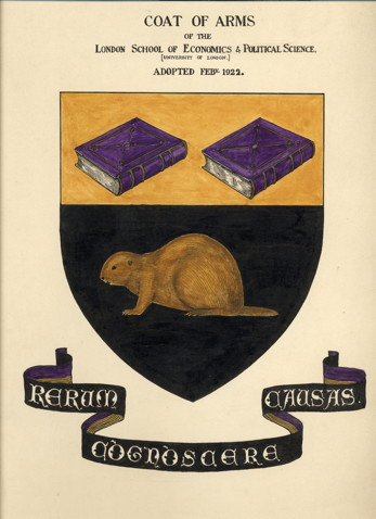 Coat of Arms. The beaver was adopted as the official mascot of the school in 1922, the same year the motto 'rerum cognoscere causas' was chosen – a line taken from Virgil's Georgics meaning 'to know the causes of things'.