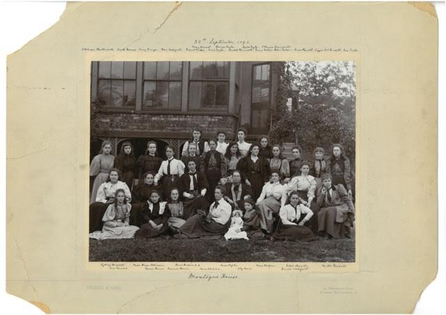 School group featuring Sydney Bushell. Credit: North London Collegiate School