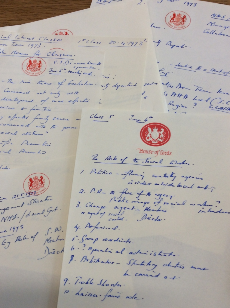 Beatrice Serota's notes. Credit: LSE Library