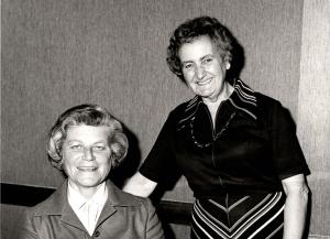Beatrice Serota (left). Credit: LSE Library