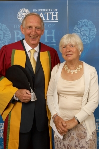 Brian and Margaret Roper, degree ceremony. Credit: © IDPS, University of Bath 2009