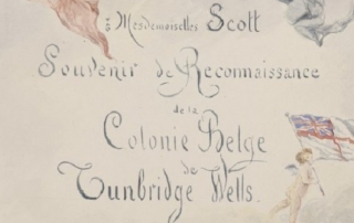 Illustrated presentation album from Belgain refugees, 1913-29