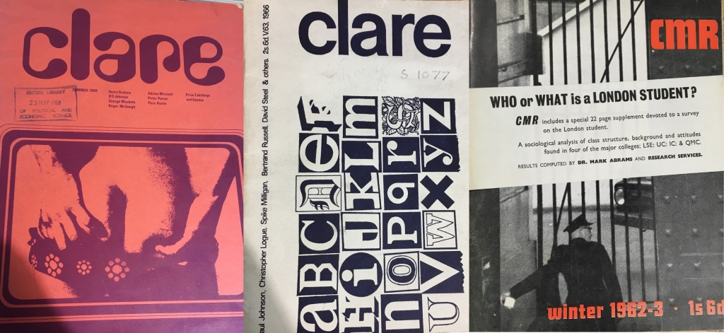 Some Clare Market Review covers from the 1960s