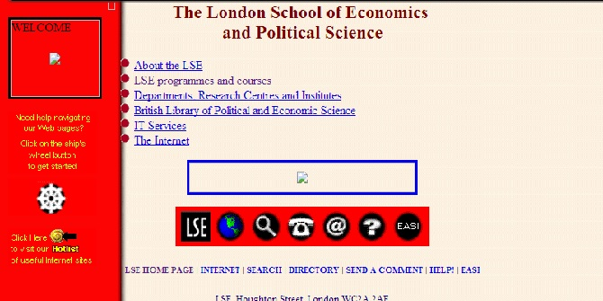 From the archives – what did LSE's homepage look like in 1996?