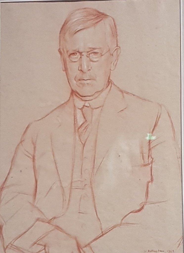 Portrait of Graham Wallas by Sir William Rothenstein (1923).